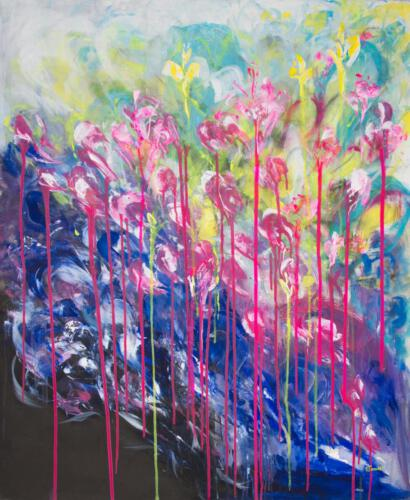 blossom love, aqryliconcanvas 100+120cm