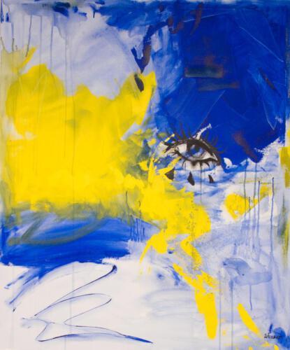 blue yellow blow, aqryliconcanvas 100+120cm