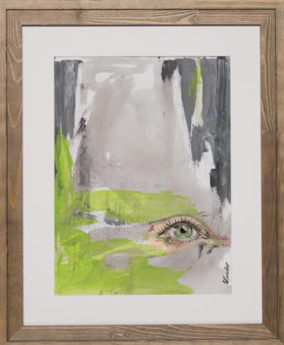 green abstract eye