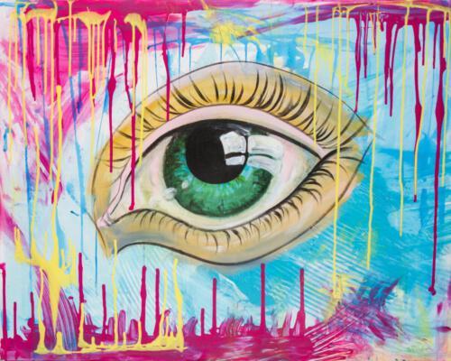 pop pink eye