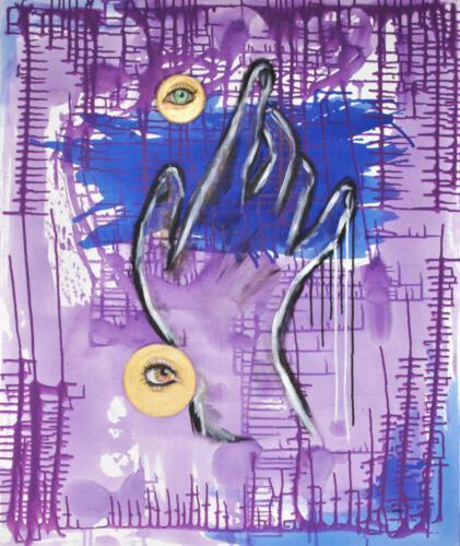 purple power, aqryliconcanvas 100+120cm