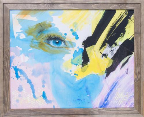 yellow blue eye