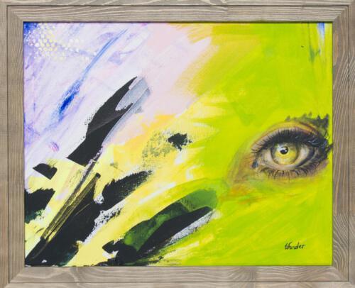 yellow green eye