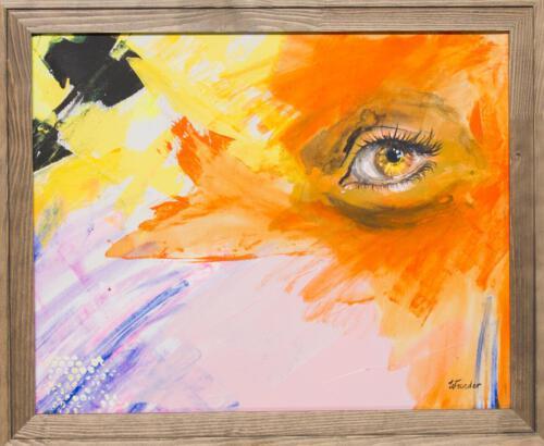yellow orange eye