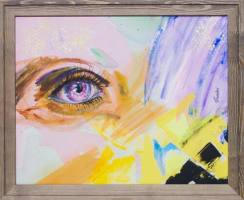 yellow purple eye